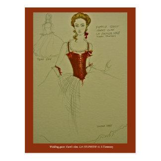 Ballet costume for LA SYLPHIDE Postcard