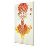 Ballet Costume for 'The Firebird', by Stravinsky Gallery Wrapped Canvas
