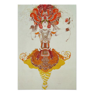 Ballet Costume for 'The Firebird', by Stravinsky Poster