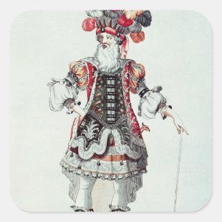 Ballet Costume Square Sticker