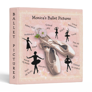 Ballet (customizable) 3 ring binder