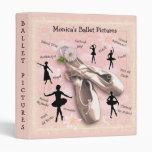 Ballet (customizable) vinyl binder