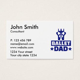 Ballet dad business card