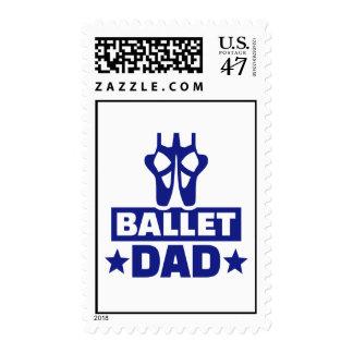 Ballet dad postage stamp