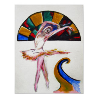 Ballet dance art print by TJ Conway