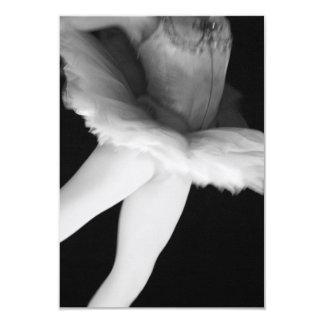 Ballet - Dance - Ballerina 9 - Black & White Card