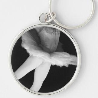 Ballet - Dance - Ballerina 9 - Black & White Keychain