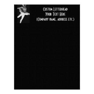 Ballet - Dance - Ballerina 9 - Black & White Letterhead