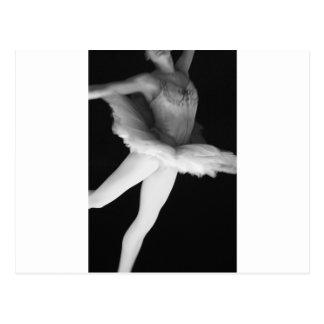 Ballet - Dance - Ballerina 9 - Black & White Postcard