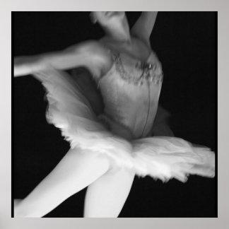 Ballet - Dance - Ballerina 9 - Black & White Poster