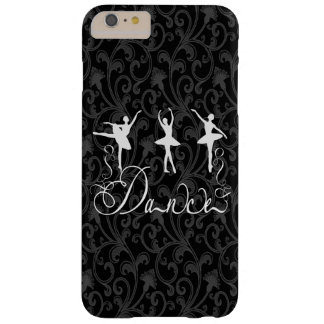 Ballet Dance Brocade Black and White Elegance Barely There iPhone 6 Plus Case