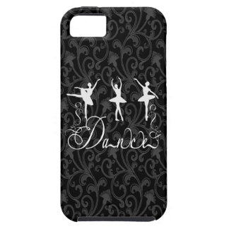 Ballet Dance Brocade Black and White Elegance iPhone SE/5/5s Case