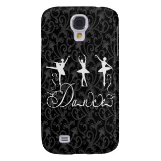 Ballet Dance Brocade Black and White Elegance Samsung S4 Case