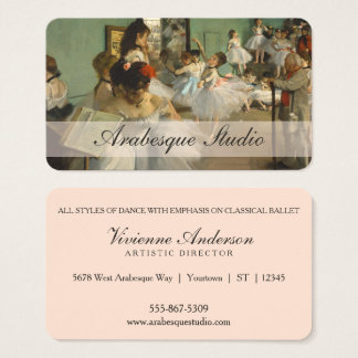 Ballet Dance Class | Edgar Degas | Vintage Business Card