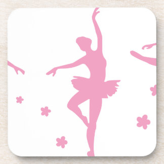 Ballet Dance Girls Pink Women Fancy Fun Party Show Coaster