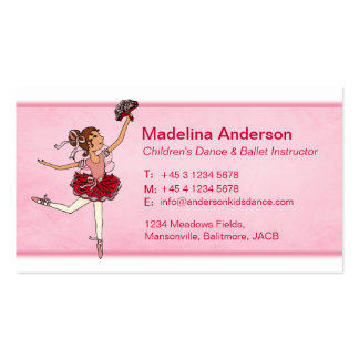 Ballet dance instructor teacher business cards