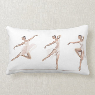 Ballet dance moves lumbar pillow