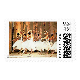 Ballet Dance On Stage Ballerinas Postage