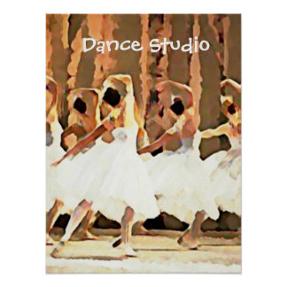 Ballet Dance On Stage Ballerinas Poster