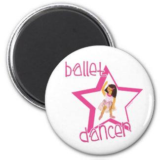 Ballet Dancer 2 Inch Round Magnet