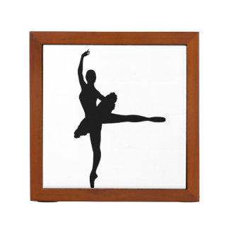 BALLET DANCER Arabesque (Ballerina silhouette) ~ Desk Organizer