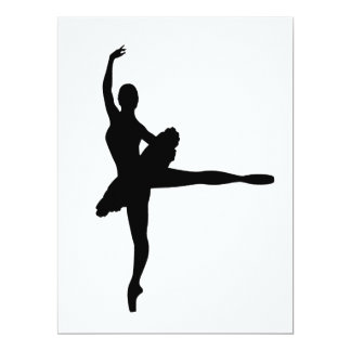 BALLET DANCER Arabesque (Ballerina silhouette) ~.p Card