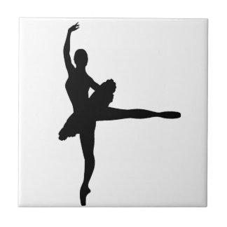 BALLET DANCER Arabesque (Ballerina silhouette) ~ Tile