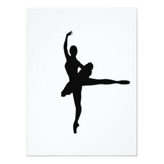 BALLET DANCER Arabesque (Ballerina silhouette) v2  Card