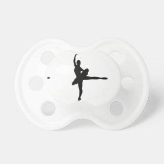 BALLET DANCER Arabesque (Ballerina silhouette) v2 Pacifier