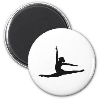 Ballet Dancer Ballerina 2 Inch Round Magnet