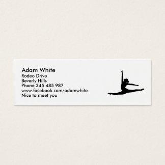 Ballet Dancer Ballerina Mini Business Card