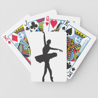 BALLET DANCER (Ballerina silhouette) ~ Bicycle Playing Cards