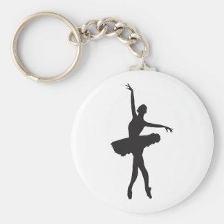 BALLET DANCER (Ballerina silhouette) ~.jpg Basic Round Button Keychain