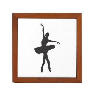 BALLET DANCER (Ballerina silhouette) ~.jpg Desk Organizer