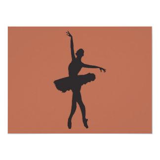 BALLET DANCER (Ballerina silhouette) wide set ~.pn Card