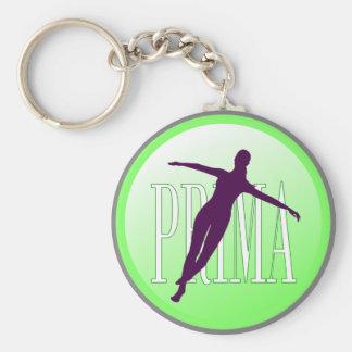 Ballet dancer basic round button keychain