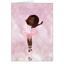 Ballet Dancer Birthday Card - African American Bal