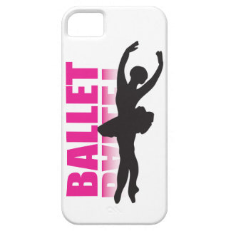 Ballet Dancer Black on White iPhone Case