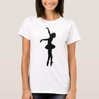 Ballet Dancer Black Silhouette T-Shirt