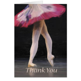Ballet Dancer Blank Thank Greeting Card