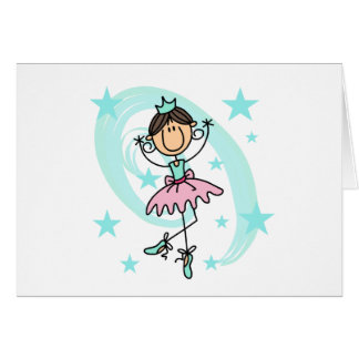Ballet Dancer - Brown T-shirts and Gifts Greeting Cards