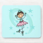Ballet Dancer - Brown T-shirts and Gifts Mouse Pad
