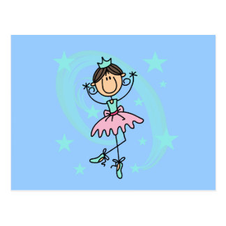 Ballet Dancer - Brown T-shirts and Gifts Post Cards