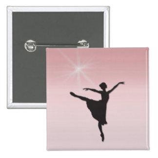 Ballet dancer button