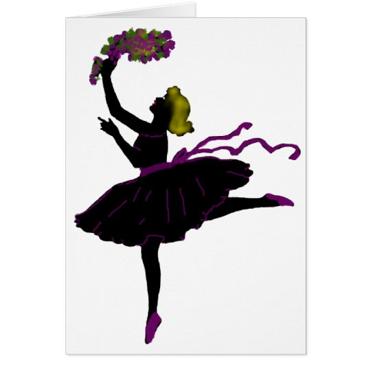 Ballet Dancer Card