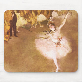 Ballet Dancer Degas Star Impressionist Painting Mouse Pads