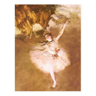 Ballet Dancer Degas Star Impressionist Painting Postcard