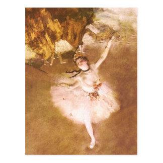 Ballet Dancer Degas Star Impressionist Painting Postcard