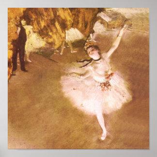 Ballet Dancer Degas Star Impressionist Painting Poster