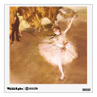 Ballet Dancer Degas Star Impressionist Painting Wall Sticker